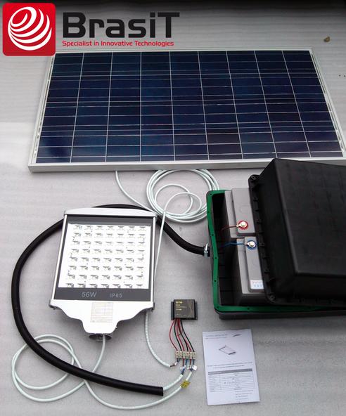Solarna lampa uliczna - schemat podłączenia BrasiT