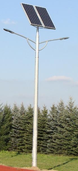 Solarna lampa uliczna dwie oprawy - BrasiT