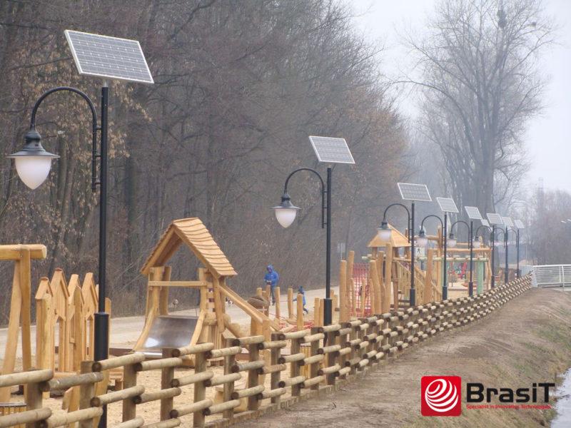 Solarna lampa parkowa - BrasiT