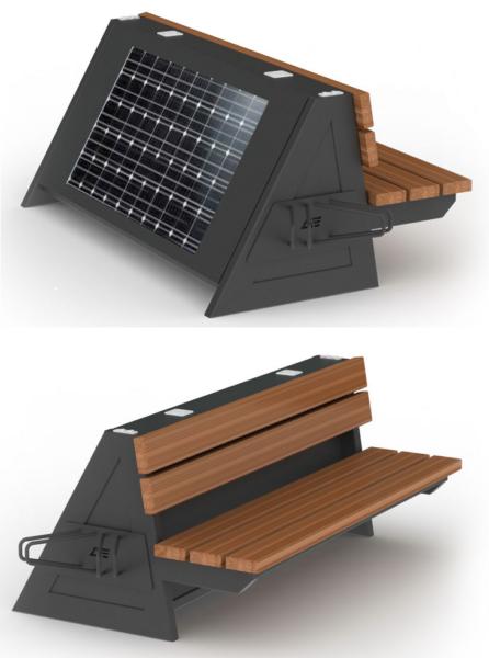 Solarna ławka fotowoltaiczna