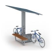Solarna wiata rowerowa