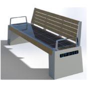 Ławka solarna sSEC16