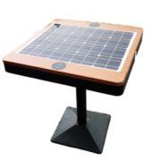 Miejski stolik solarny