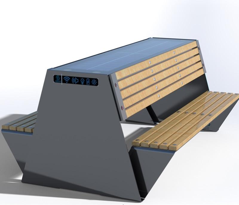 Solarna ławka piknikowa sSEC10