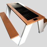 Solarna ławka piknikowa sSEC12